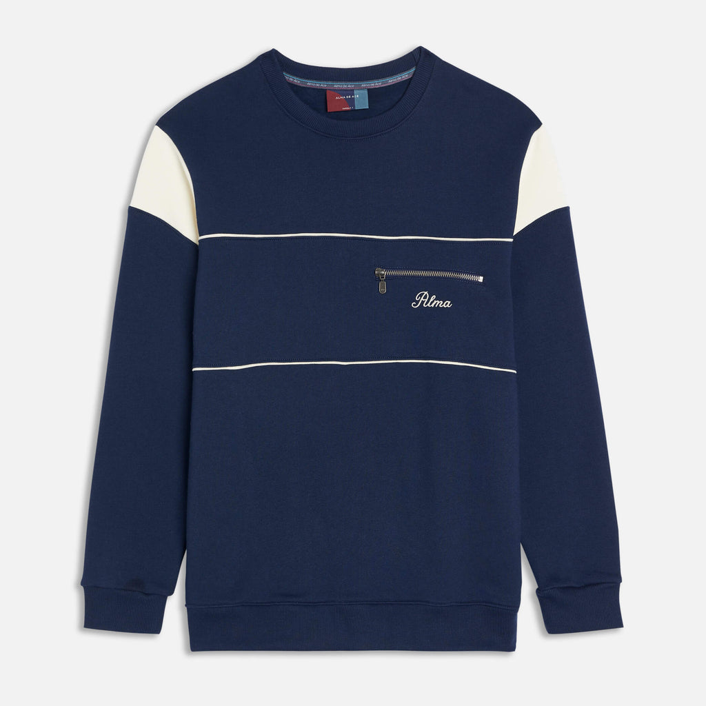 Navy Blue Aquila Pocket Sweatshirt