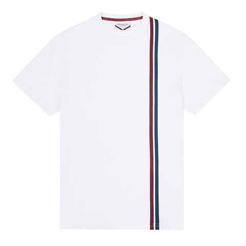 White 90s stripe T-shirt