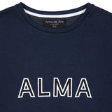 Navy Alma x Ayana Embroidered Sweatshirt - Alma De Ace London Streetwear