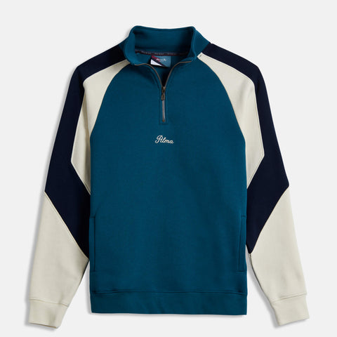 Blue Mock Neck Parvis Sweatshirt