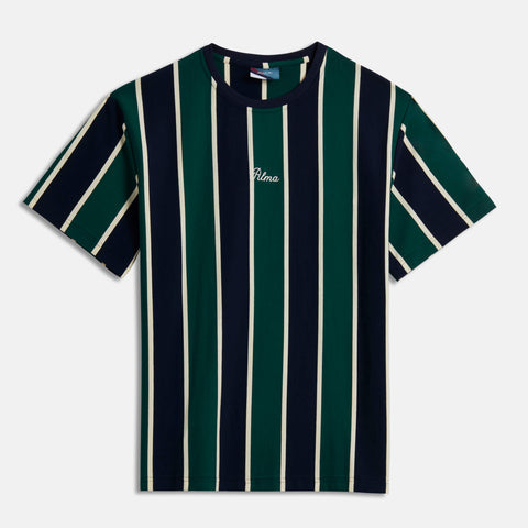 Navy Green Carita Stripe T-Shirt