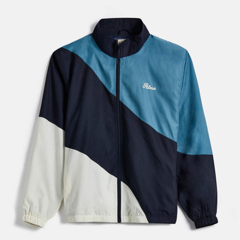 Teal Wave Panel Track Jacket