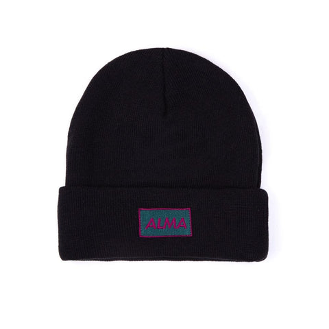 Black Retro Beanie - Alma De Ace London Streetwear