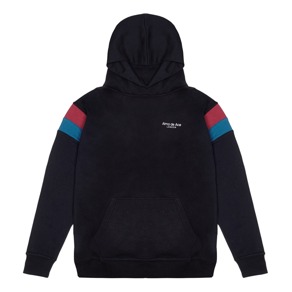 Original Black Retro Hoodie - Alma De Ace London Streetwear