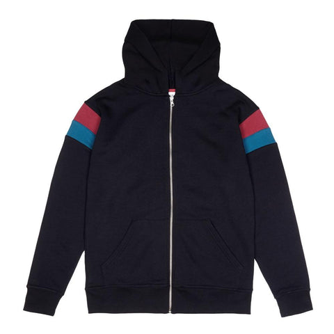 Black Original Retro Zip Hoodie - Alma De Ace