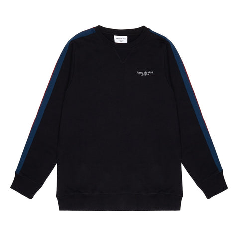 The Black Stripe Sweatshirt