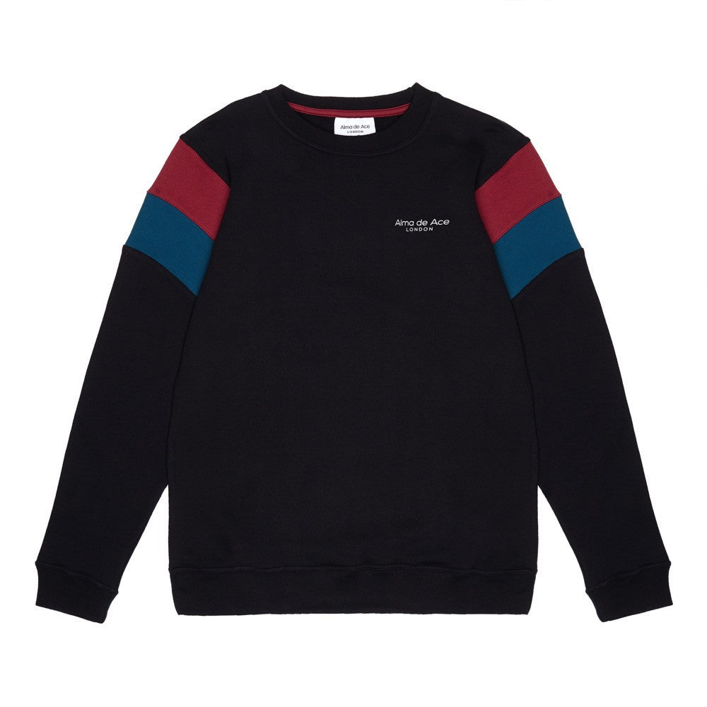 The Original Black Retro Sweatshirt - Alma De Ace London Streetwear
