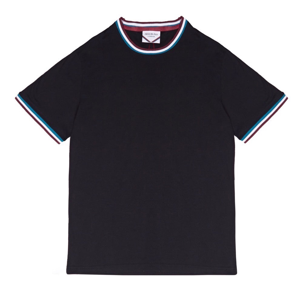 RETRO COLLAR T-SHIRT | BLACK (NEW)