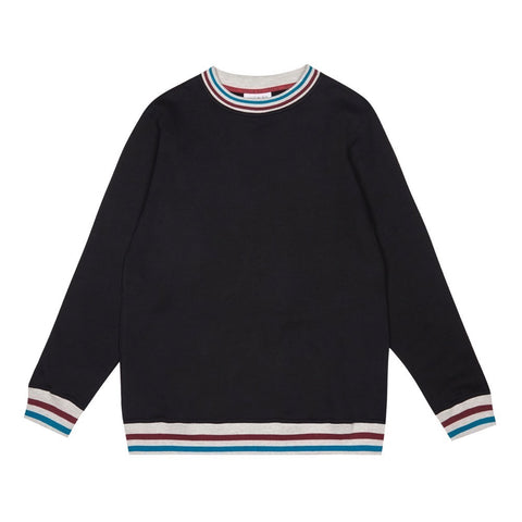 RETRO COLLAR SWEATSHIRT | BLACK (NEW)