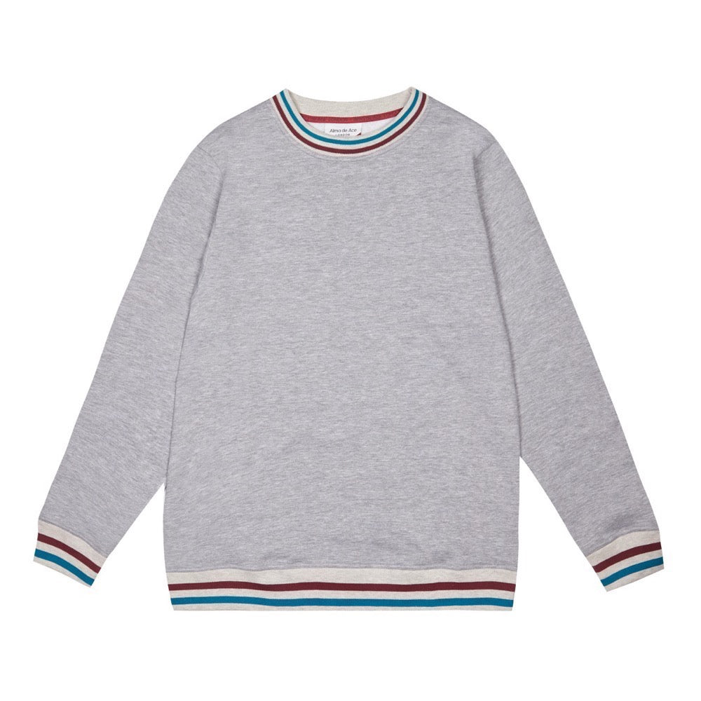 Retro Collar Sweatshirt | Grey
