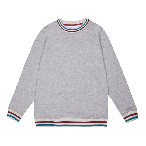 RETRO COLLAR SWEATSHIRT | GREY (NEW)