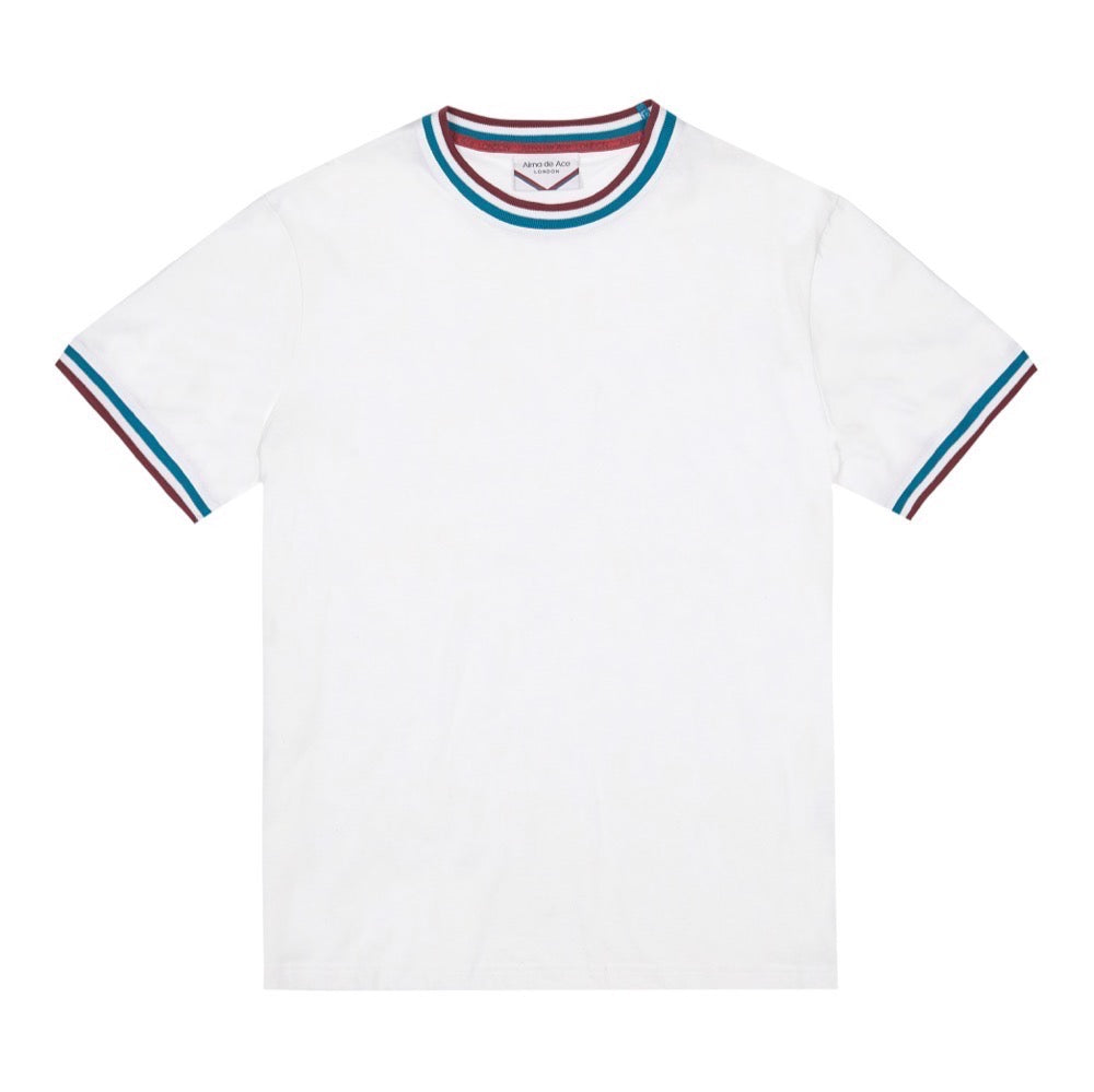 RETRO COLLAR T-SHIRT | WHITE (NEW)