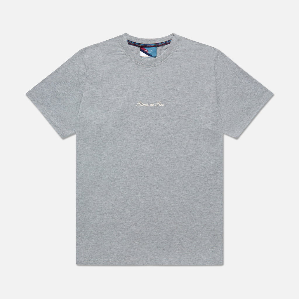 Grey Marl Embroidered T-Shirt