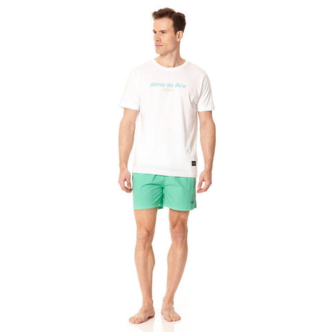 Alma de Ace pastel green embroidered swim shorts - Alma De Ace - 1
