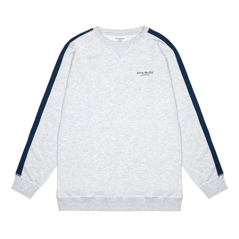 The Grey Stripe Sweatshirt - Alma De Ace London Streetwear
