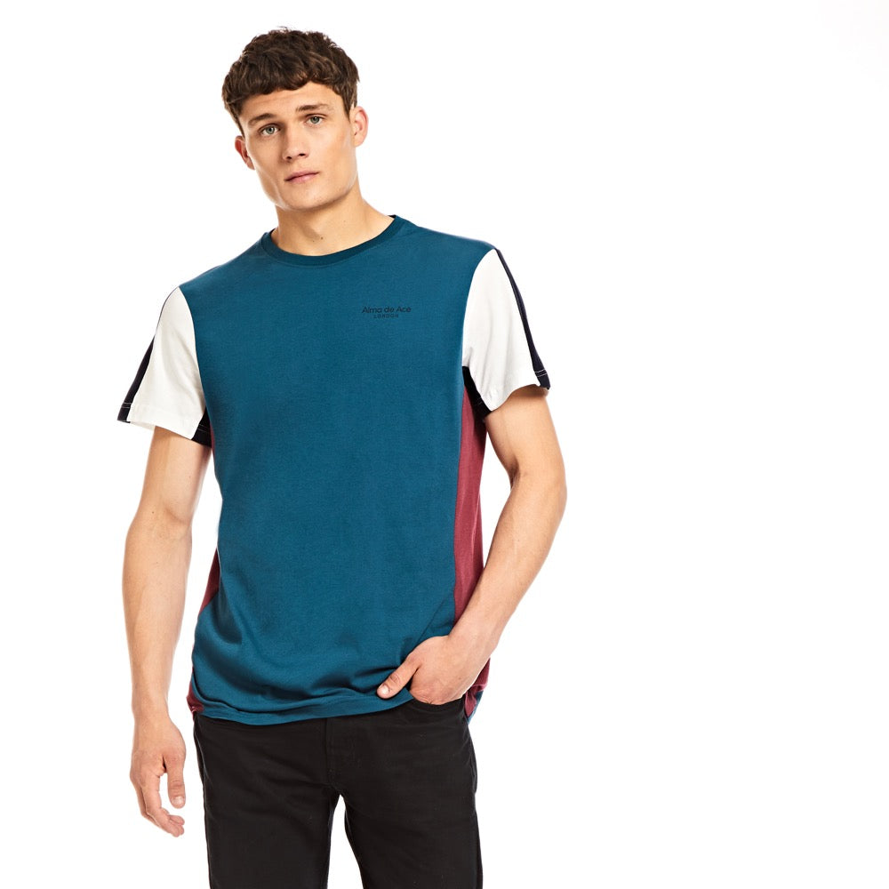 Retro Signature T-shirt / Teal - Alma De Ace London Streetwear