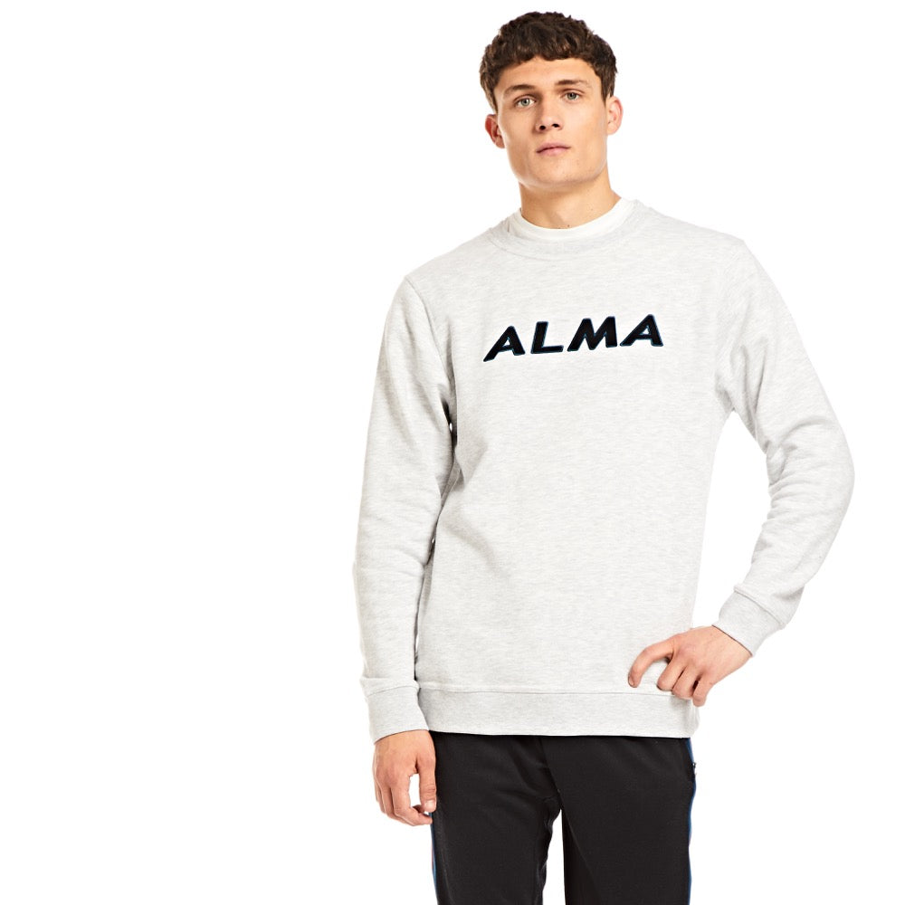 Grey Alma Embroidered Sweatshirt - Alma De Ace London Streetwear