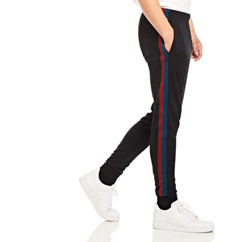 Black Stripe Joggers - Alma De Ace London Streetwear