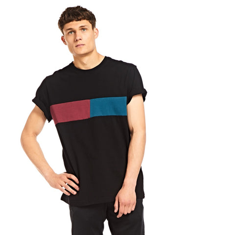 Black Centre Panel T-shirt