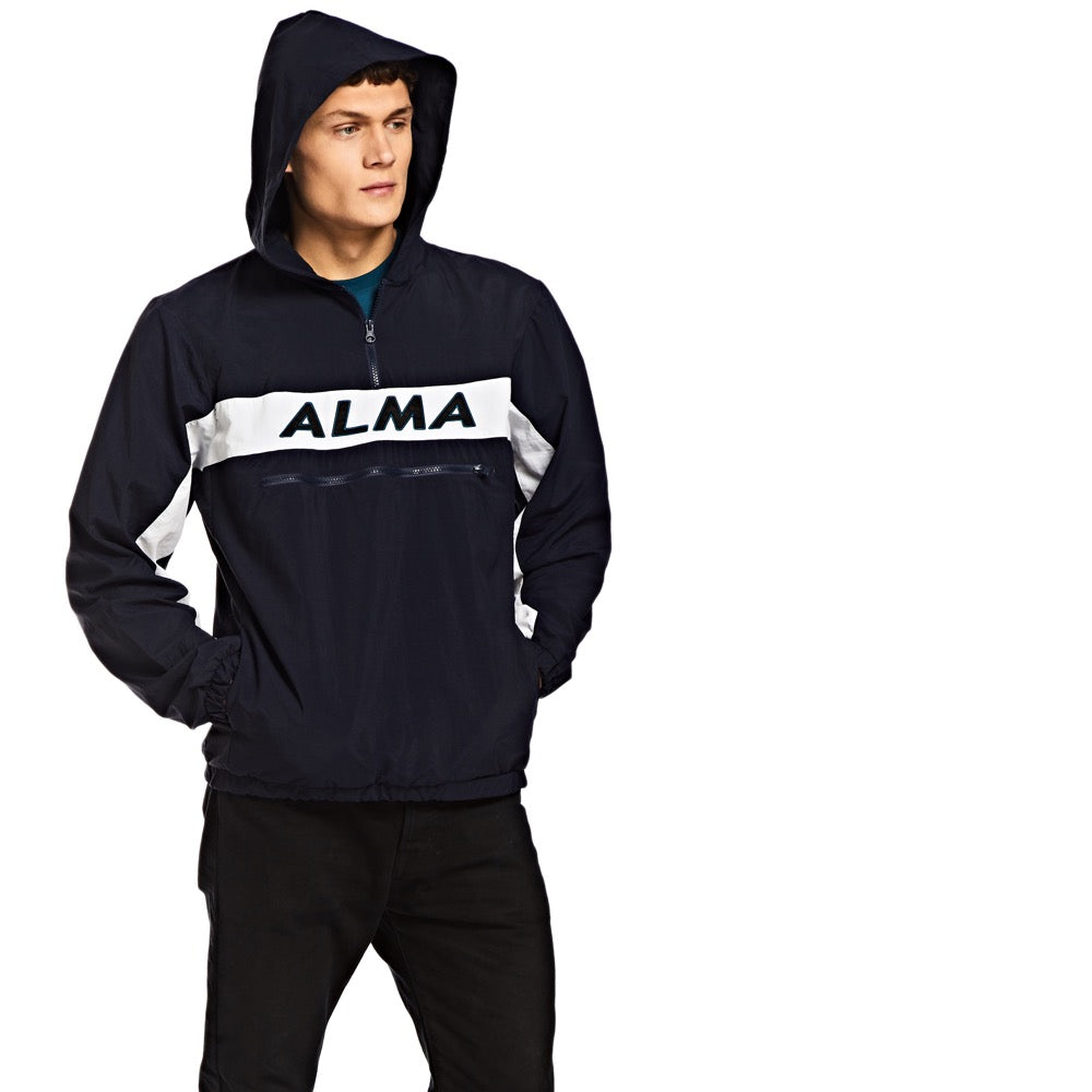 Alma Overhead stripe jacket / Navy - Alma De Ace London Streetwear