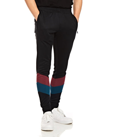 Black Retro Original Joggers - Alma De Ace London Streetwear