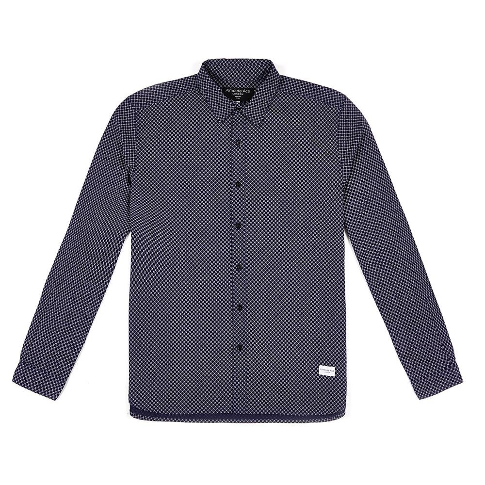 Ayun Blue Chain Shirt - Alma De Ace - 1