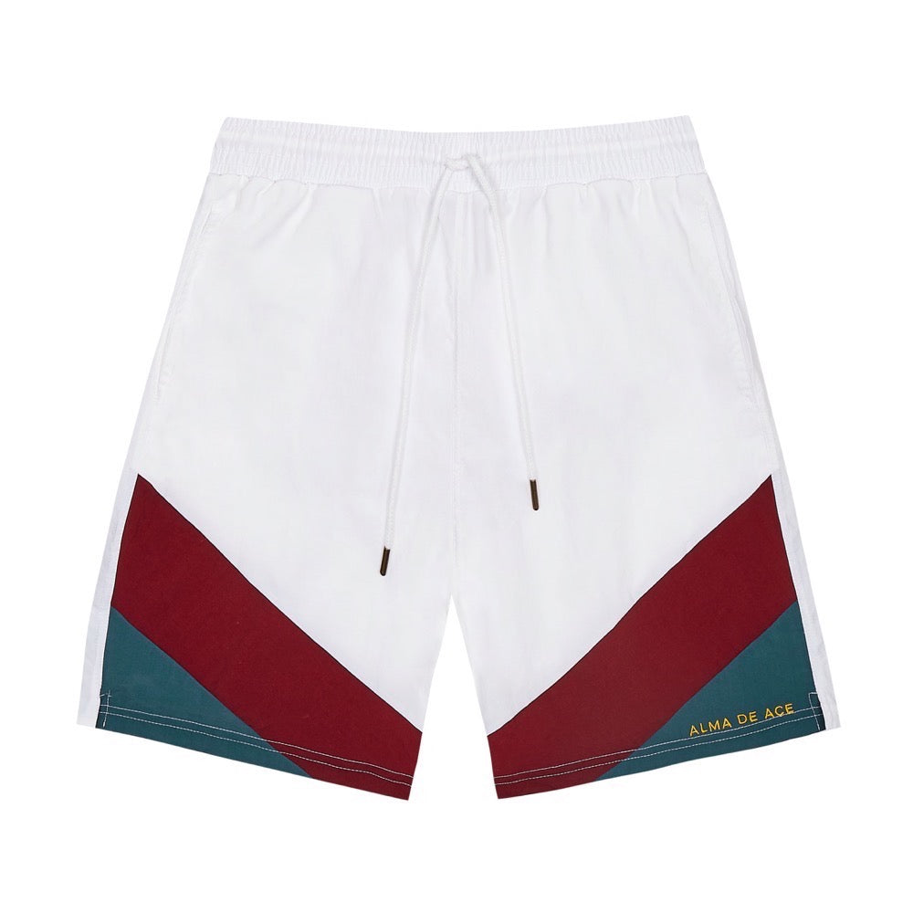 White Retro Original Embroidered shorts