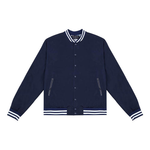BOMBER JACKET WITH PAISLEY LINING/ NAVY BLUE - Alma De Ace - 1