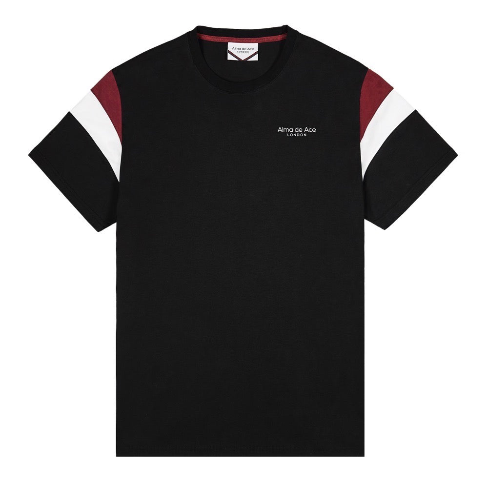 Original Black Retro T-shirt with red/white