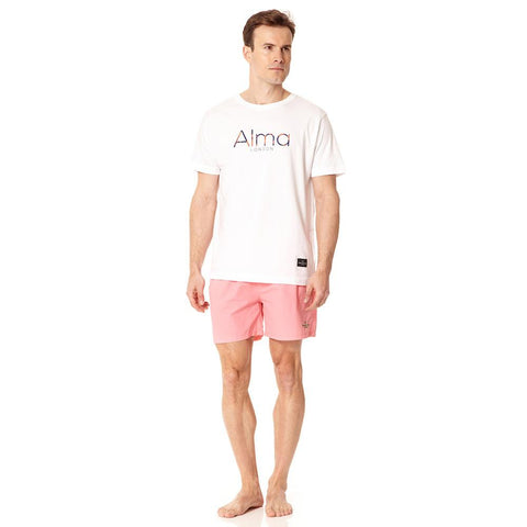 Alma de Ace pastel pink embroidered swim shorts - Alma De Ace - 1