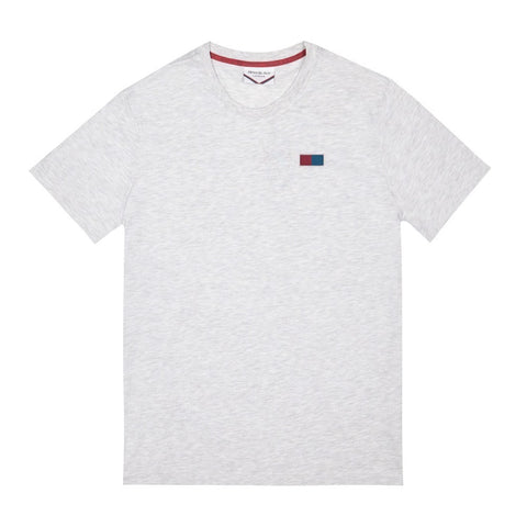 Side Embroidered Flag Logo T-shirt | Light Grey