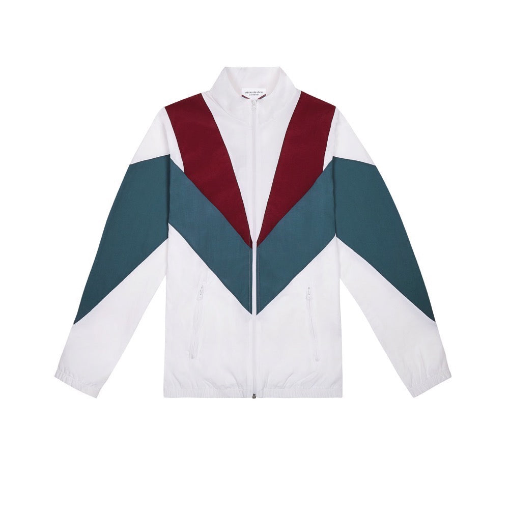 White Retro Sports Jacket