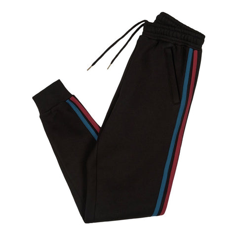 Black 90s Two Tone Joggers