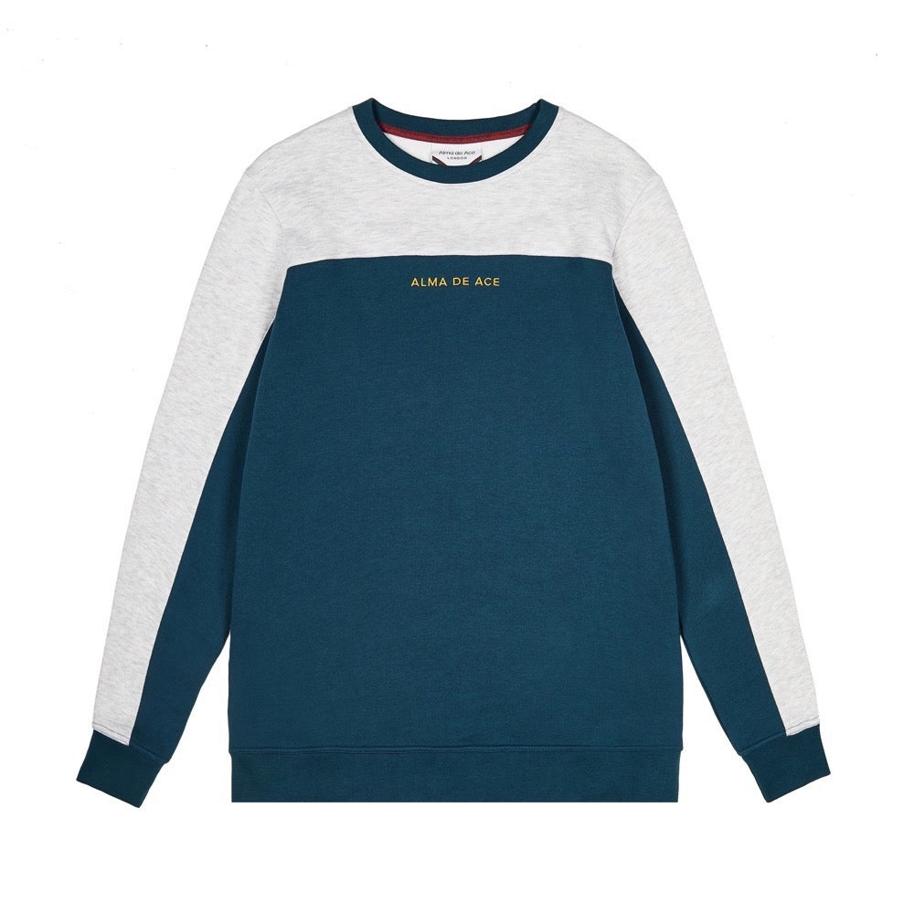 Grey / Teal Two Tone Sweatshirt
