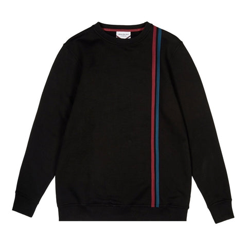 Black 90s stripe Sweatshirt