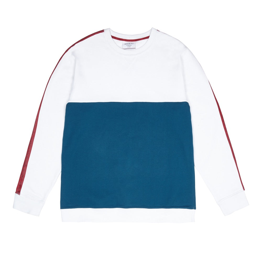 White Tapered Sweatshirt - Alma De Ace London Streetwear