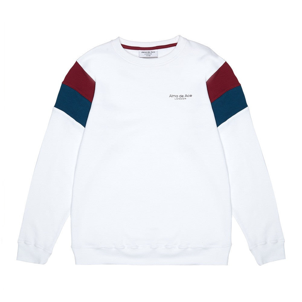 The Original White Retro Sweatshirt - Alma De Ace London Streetwear