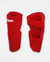 Bike Athletic Knee Pad, lang, rot-DIAMOND PRIDE