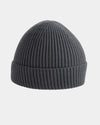 Diamond Pride Basic Knit-Ribbed Beanie, dunkelgrau-DIAMOND PRIDE