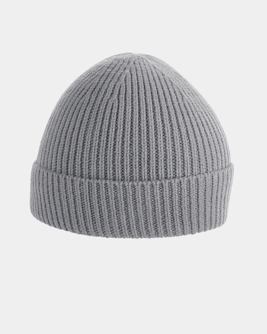 Diamond Pride Basic Knit-Ribbed Beanie, hellgrau-DIAMOND PRIDE