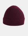 Diamond Pride Basic Knit-Ribbed Beanie, maroon-rot-DIAMOND PRIDE