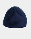Diamond Pride Basic Knit-Ribbed Beanie, navy blau-DIAMOND PRIDE