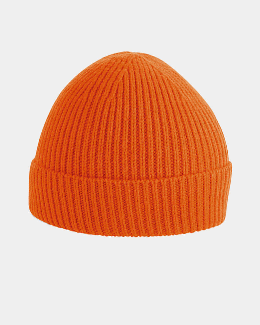 Diamond Pride Basic Knit-Ribbed Beanie, orange-DIAMOND PRIDE
