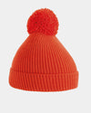 Diamond Pride Basic Knit-Ribbed PomPom-Beanie, rot-DIAMOND PRIDE