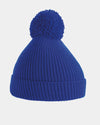 Diamond Pride Basic Knit-Ribbed PomPom-Beanie, royal-blau-DIAMOND PRIDE