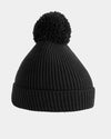 Diamond Pride Basic Knit-Ribbed PomPom-Beanie, schwarz-DIAMOND PRIDE