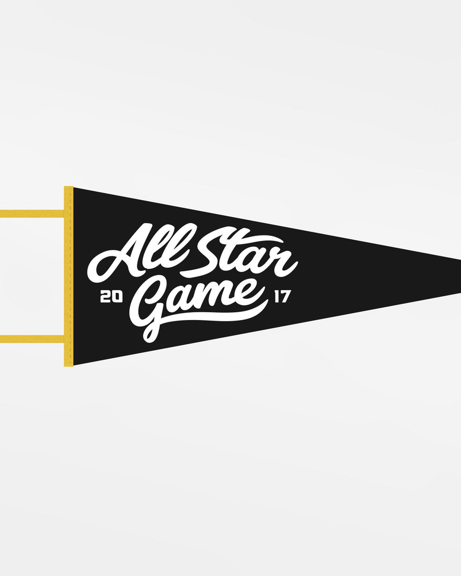 "Diamond Pride Filz Pennant Flag ""All Star Game 2017"", schwarz - gelb-DIAMOND PRIDE"