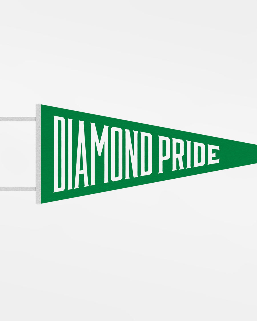 "Diamond Pride Filz Pennant Flag ""Diamond Pride"", kelly grün - weiss-DIAMOND PRIDE"