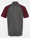 Diamond Pride Light-Performance Contrast Polo-Shirt, heather dunkelgrau-maroon rot-DIAMOND PRIDE
