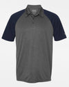 Diamond Pride Light-Performance Contrast Polo-Shirt, heather dunkelgrau-navy blau-DIAMOND PRIDE